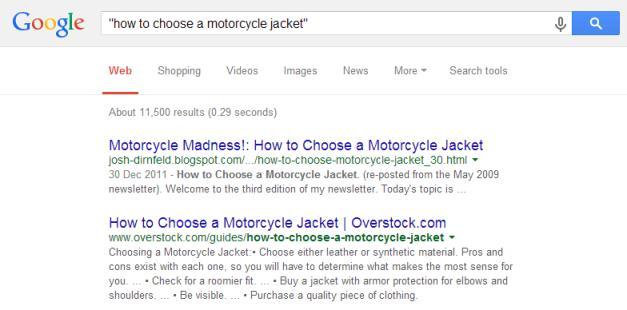 google exact match searching