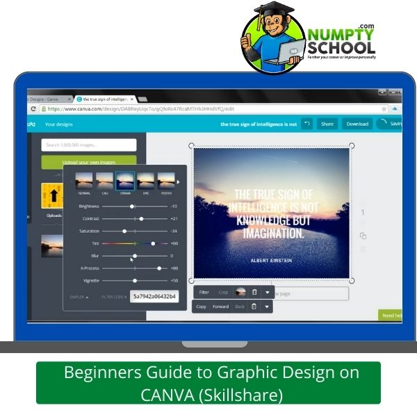 Beginners Guide to Graphic Design on CANVA (Skillshare)