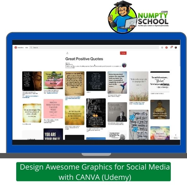 Design Awesome Graphics for Social Media with CANVA (Udemy)