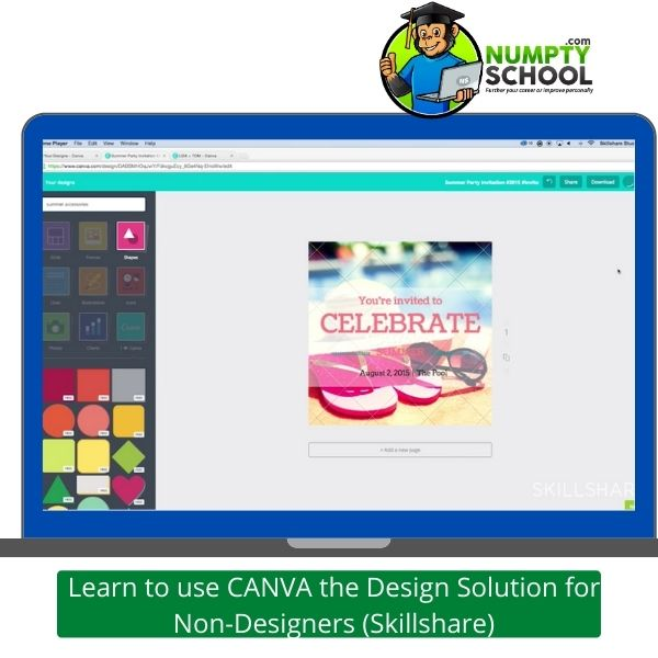 Learn to use CANVA the Design Solution for Non-Designers (Skillshare)