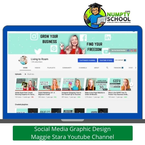 Social Media Graphic Design Maggie Stara Youtube Channel