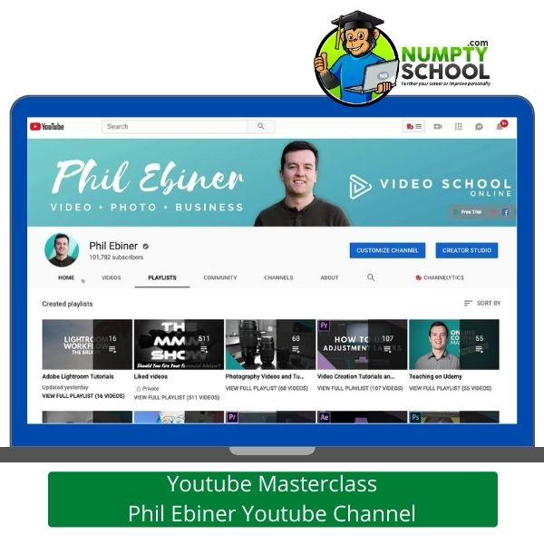 Youtube Masterclass Tutorial on Udemy