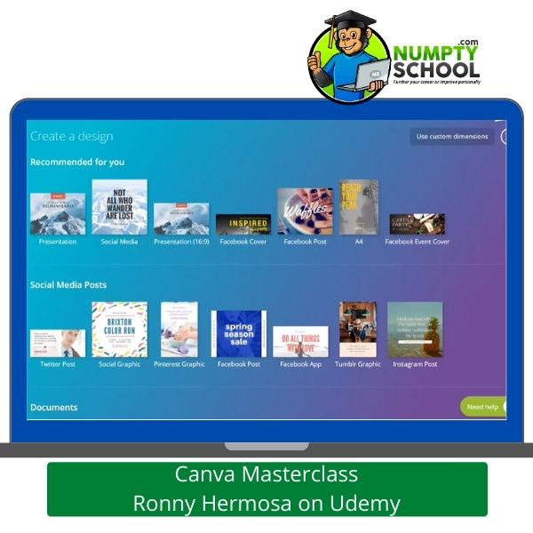 Canva Masterclass Tutorial Ronny Hermosa on Udemy