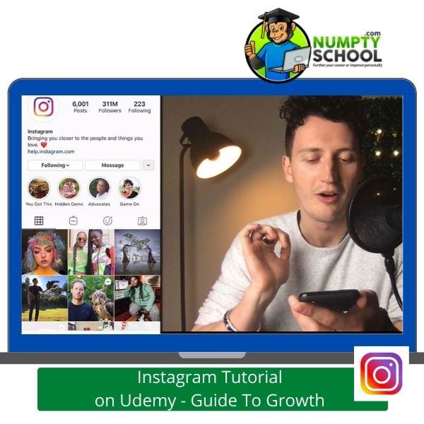 Instagram Tutorial on Udemy - Top Guide To Growth