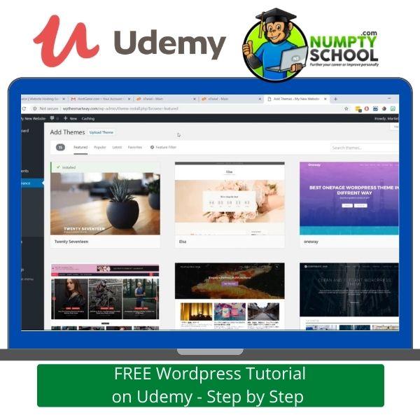 FREE WordPress Tutorial on Udemy - Step by Step