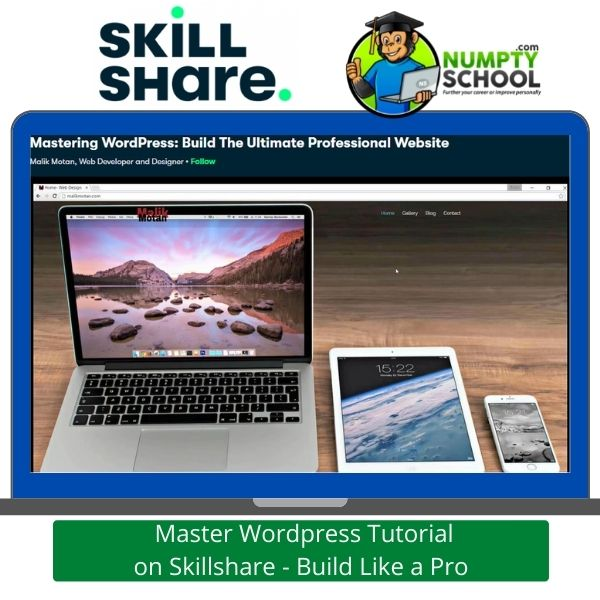 Master WordPress Tutorial on Skillshare - Build Like a Pro